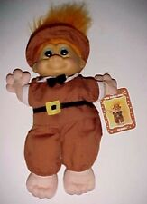 "Russ Wee Troll Kidz Samuel the Pilgrim Doll 9"" Orange Hair New with Hang Tag"