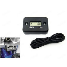 Digital LCD Hour Meter Motorcycle ATV Snowmobile Marine Boat Gauge Timers Black