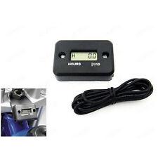 Waterproof Digital Tach Hour Meter Gauge LCD for 4 Stroke Gas Engine