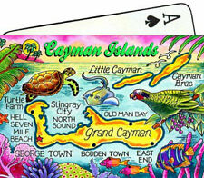 CAYMAN ISLANDS MAP CARIBBEAN COLLECTIBLE SOUVENIR PLAYING CARDS