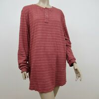 Marine Layer Henley Shirt NEW WITH TAGS NWT Red Double Knit Size XL