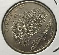 1999-P CONNECTICUT OFF-CENTER OBV. & ROTATED REVERSE MAJOR ERROR NICE COIN  #250