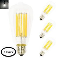 12W ST64 LED Glühbirne E27 Sockel 220V LED COB Filament Edison Vintage Glühbirne