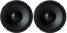 "NEW PAIR 6-1/2"" / 6.5""  Heavy Duty Weather Resistant Speaker Subwoofer Woofer"