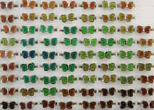 Wholesale Lots 40pcs Butterfly Change Color Mood Ring Alloy Adjustable Rings
