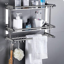 Champú montado en pared de baño toallero estante Soporte Bañera caddies Bandeja