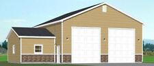 50x40 2-RV Garage -- 1,776 sq ft -- PDF Floor Plan -- Model 1A
