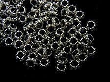 50 Pcs -  6mm Tibetan Silver Ring Beads Spacer Jewellery Craft Beading D112