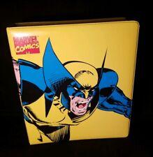 Vintage 1994 Marvel Wolverine X Men Trading Card / Comic 3 Ring Binder