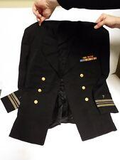 World War II Navy Military Chaplain's Dress Blues with Ribbons, Stars, Stripes