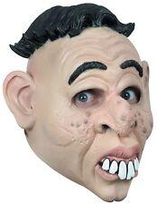 Funny Doofus Adult Latex Halloween Mask Clueless Nitwit Buck Teeth Nimrod