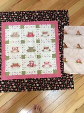 Teacup Table Topper. Handmade Quilt Top And Backing.