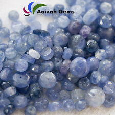 210 Ct.NATURAL CERTIFIED BURMA BLUE SAPHIRE FACETED BEADS DRILD SIZE=4--7mm