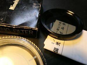 BNIB! VINTAGE GENUINE MINOLTA 49MM POLARIZING FILTER  BOXED CASED WITH MANUAL