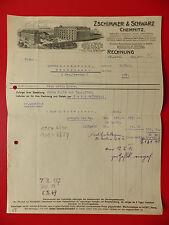 Reklame Briefkopf Chemische FABRIK Zschimmer & Schwarz Chemnitz von 1916 ( 8709