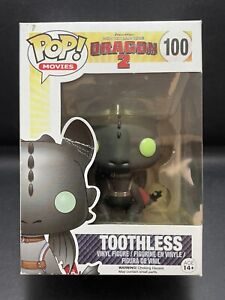 Funko Pop Vinyl TOOTHLESS #100 HOW TO TRAIN YOUR DRAGON 2 (Vaulted) in Protector