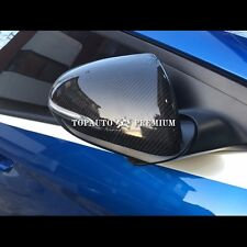 Black Real Carbon Fiber Side Mirror Cover Trim Replace For Hyundai Elantra 2017+