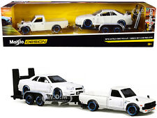 1973 Datsun 620 Pickup & Nissan Skyline R34 & Trailer Set 1/24 Cars Maisto 32754
