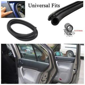 9.9' Universal Car Door Window Trim Edge Moulding Rubber Weatherstrip Seal Strip