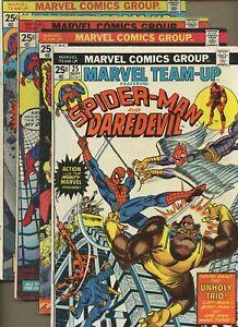Marvel Team-Up 25,26,27,28 * 4 Book Lot * Daredevil! Thor! Len Wein! Mooney!