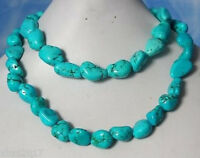 """Stunning Fashion Turquoise Nugget Beads Women's Jewelry Necklace 33"""""""