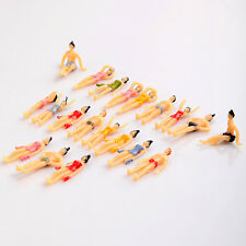 Mini Cute 20pcs OO Scale 1:75 Painted Model Beach People Figures