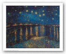 MUSEUM ART PRINT Starlight Over the Rhone Vincent van Gogh 27x21.5