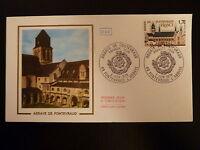 FRANCE PREMIER JOUR FDC YVERT 2002  ABBAYE DE FONTEVRAUD  1,70F  FONTEVRAUD 1978