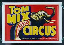 TOM MIX * CineMasterpieces ORIGINAL ELEPHANT CIRCUS POSTER LINEN BACKED 1937