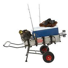 Pier Fishing Cart W/ Wheels Aluminum Frame Anglers Gear Beach Equipment  Storage