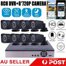 8CH 5IN1 DVR 8*HD720P Camera Surveillance CCTV Set Surveillance Outdoor Video AU