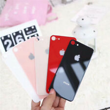Multi-color Glossy Tempered Glass Back Cover Protector for iPhone X 6 7 8 Xs Max