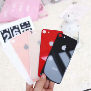 Multi-color Glossy Tempered Glass Back Cover Protector for iPhone X 7 8 Xs Max