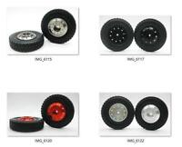 1/14 Front aluminum wheels rim Tires set 1 pair for RC Tamiya 1/14 Tractor Truck