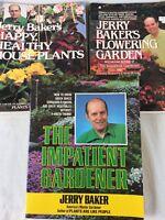 (3) Books Jerry Baker's Impatient Gardener, Flowering Garden & H.H House Plants