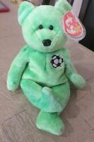TY Beanie Baby Kicks the Bear DOB August 16, 1998 MWMT Free Shipping