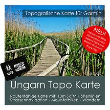 Ungarn Topo Karte 10m Höhenlinien 4GB microSD für Garmin Navi, PC & MAC