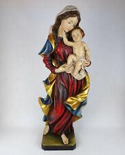 Holzfigur Madonna mit Kind 60cm, MADONNA BAROCK, alpenländisch Südtirol