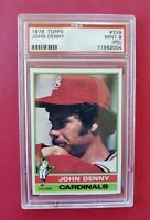 1976 Topps #339 JOHN DENNY (Cardinals)**PSA 9 (MINT)PD** *SHARP & CENTERED* WOW!