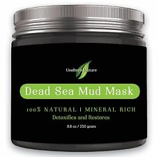 Unaltered Nature Beauty Dead Sea Mud Mask for Facial Treatment, 250g / 8.8 fl.oz