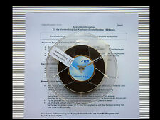 Pievox Calibration tape AZIMUTH Alignment (7.5 ips) Messband z. Spalteinstellung