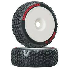 NEW Duratrax 1/8 Derringer Buggy Tire Mounted White (2) DTXC3635