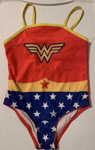 Wonder Women Girl's One Piece Swim Suit -Sz 5T -Bathing Suit -FREE SHIP