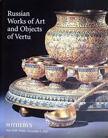 Sotheby's Auction Catalog Russian Icons Fine Art Vertu Silver Gold Faberge Arts