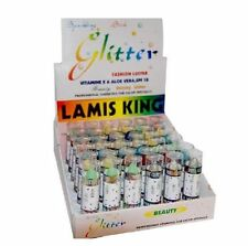 Lot of 1296 Lamis King Shiny Glitter Lipstick - Assorted