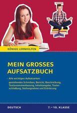 Mein großes Aufsatzbuch - Deutsch 7.-10. Klasse. - 9783804415867 PORTOFREI