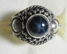 Star Sapphire Artisan Designed Ring in 925 Sterling Silver sz 6
