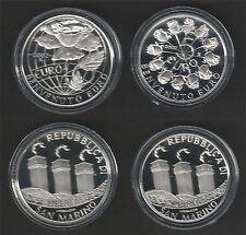 2002 San Marino € 5+10 Benvenuto Euro monete comm. argento FS