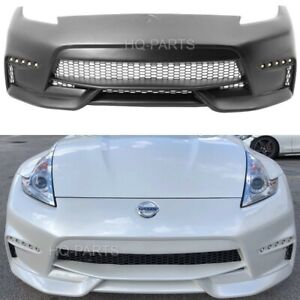 Fits 09-19 Nissan 370Z NS Style Conversion Front Bumper Cover Black PP With LED