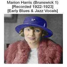 MARION HARRIS 1920s BLUES & JAZZ VOCALS - BRUNSWICK VOL. 1 - New CD